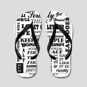 12 step back cover. Flip Flops