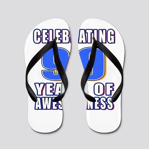 Celebrating 90 Years Of Awesomeness Flip Flops