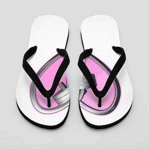Barbell Heart (pink) Flip Flops