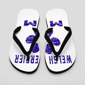 Welsh Terrier mom designs Flip Flops