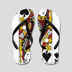 Queen of Spades Flip Flops