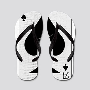Playing Card Bullet Hole Flip Flops