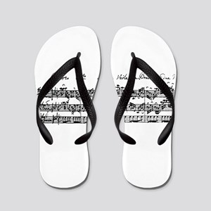 Bach's Brandenburg 6 Concerto Flip Flops