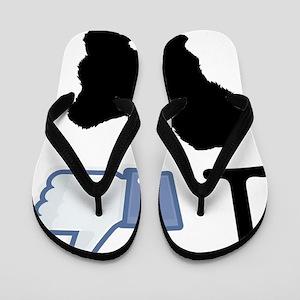 Coton-de-tulear26 Flip Flops