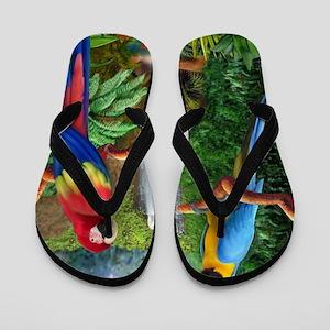 MaCaw Tropical Parrots Flip Flops
