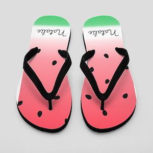 Watermelon Ombre Custom Flip Flops