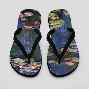 Claude Monet Water Lilies Flip Flops