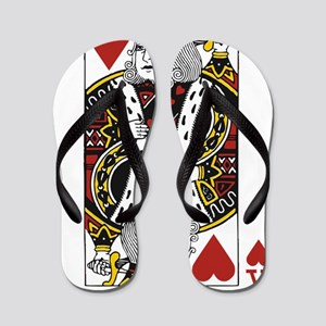 King of Hearts Flip Flops