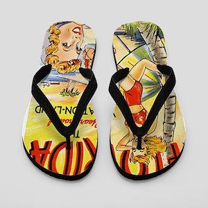 Vintage Florida Beach Flip Flops