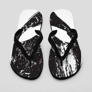 Alien Head (Grunge Texture) Flip Flops
