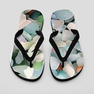 Sea glass Flip Flops