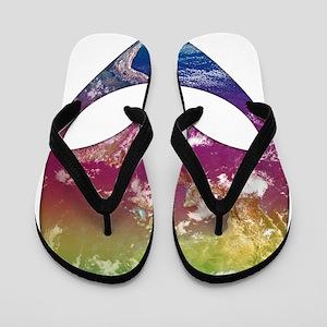 Cosmic Alien Flip Flops