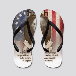 George Washington - Faith Flip Flops