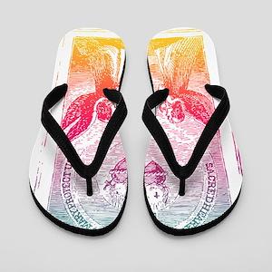 SacredHearts_black Flip Flops