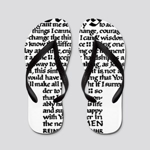 FULL SERENITY.PRAYER Flip Flops