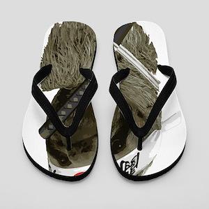 Samurai Sloth Flip Flops