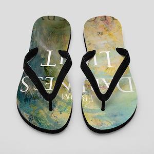 PSTR-from darkness to light Flip Flops