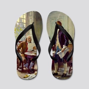 Declaration of Independence 1776 Flip Flops
