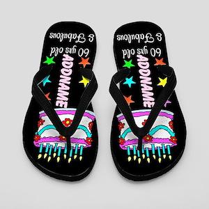 Snazzy 60th Flip Flops