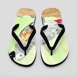 Voice-African Gray Flip Flops