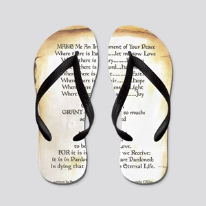Pope Francis St. Francis SIMPLE PRAYER- Flip Flops