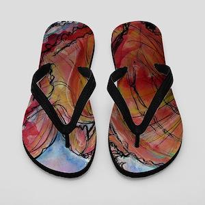 Fiesta Dancer, fun, art, Flip Flops