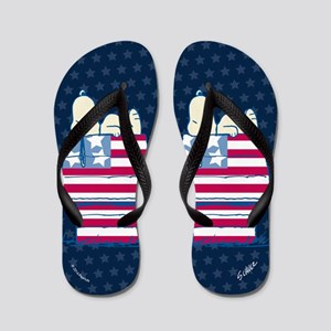 Peanuts 4th Of July Flip Flops