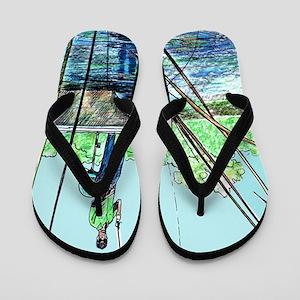 Gone Fishing Flip Flops