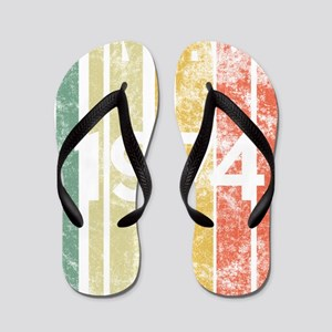 Vintage 1974 Retro Birth Year Birthday Flip Flops
