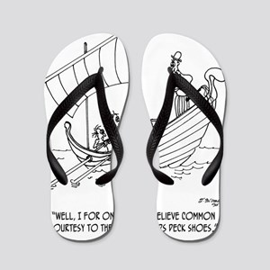 4652_boating_cartoon_RS Flip Flops