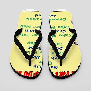 OldFartShort12x14YellowTRANS-a Flip Flops