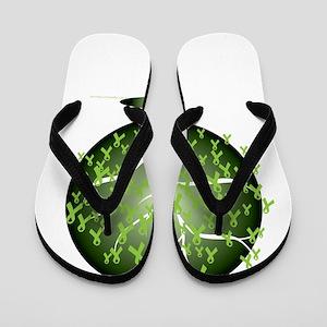 Non-Hodgkins-Lymphoma-Tree-blk Flip Flops