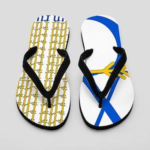 XC Run Blue Gold Flip Flops