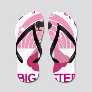 I Am Going To Be A Big Sister Flip Flops