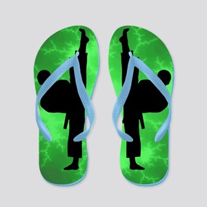Taekwondo Karate Green Boys Flip Flops