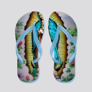 Our Lady of Guadalupe Flip Flops