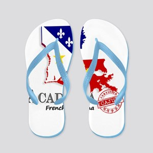 Acadiana French Louisiana Cajun Flip Flops