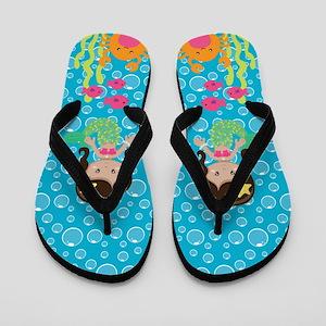 Ethnic Mermaid Flip Flops