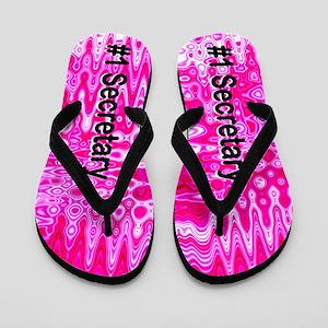 Pink Secretary Flip Flops