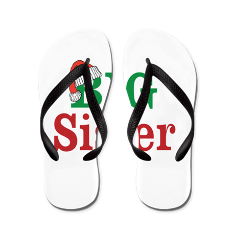 Christmas Big Sister Flip Flops