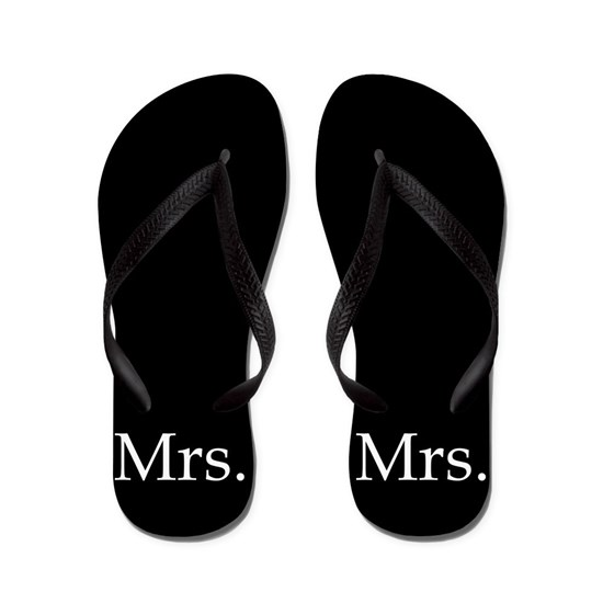 Black Mrs flip flops - for her
