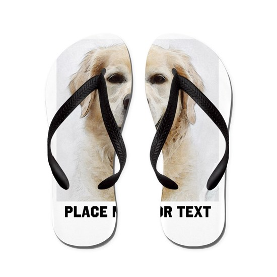 2b91eff6d121 Dog Photo Customized Flip Flops by nadil1 - CafePress