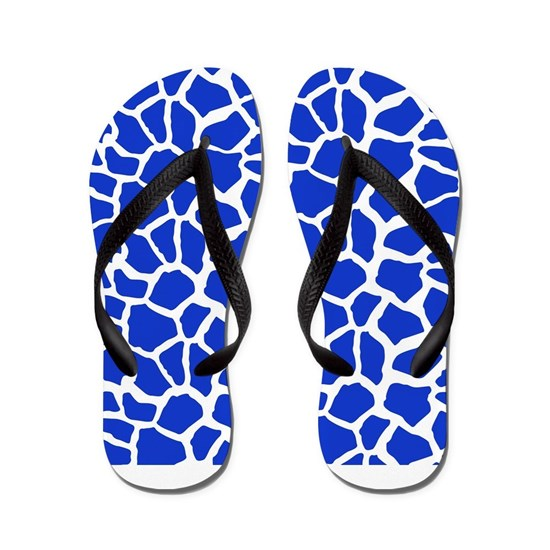 Royal Blue And White Giraffe Pattern Animal Print By