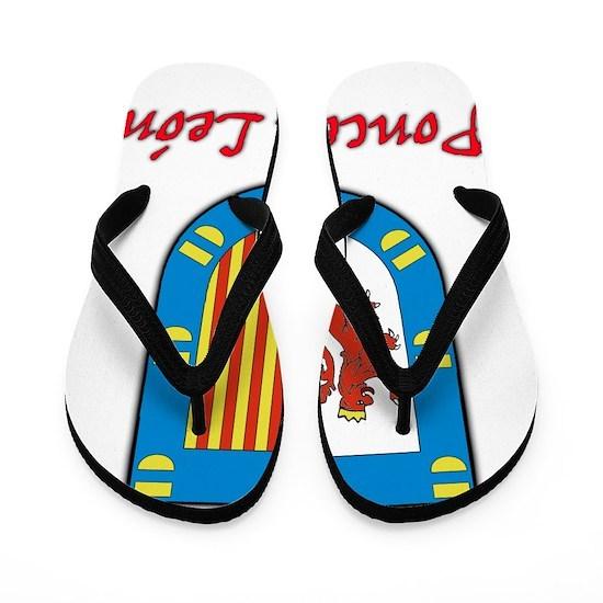e07484ca474cf Ponce de Leon Coat of Arms Flip Flops