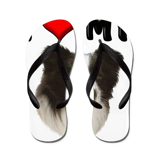 I Love My Border Collie Flip Flops By Magik