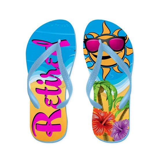 Retired Tropical Beach Flip Flops By