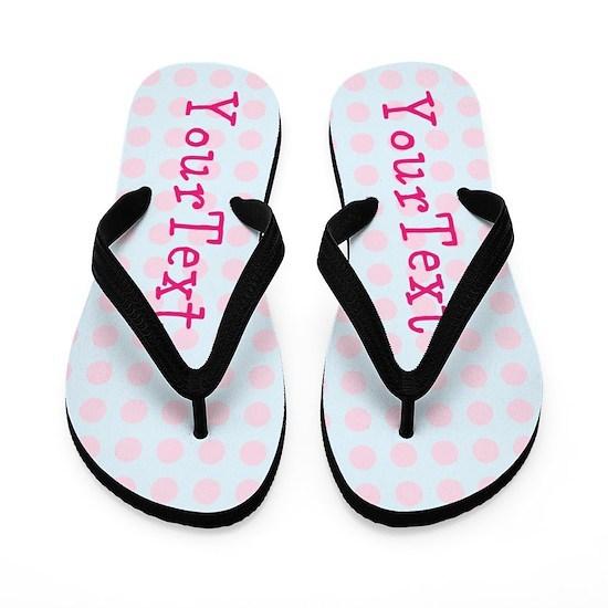 Personalize Pink Blue Polka Dot