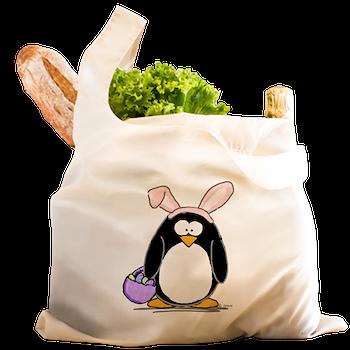Easter penguin reusable shopping bag easter penguin penguin by easter penguin reusable shopping bag negle Images