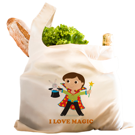 Boy Magician Reusable Shopping Bag