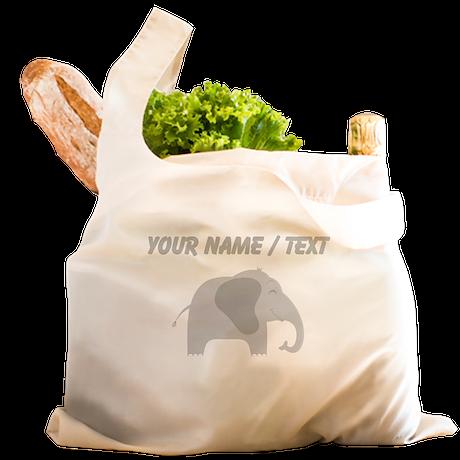 Custom Baby Elephant Reusable Shopping Bag